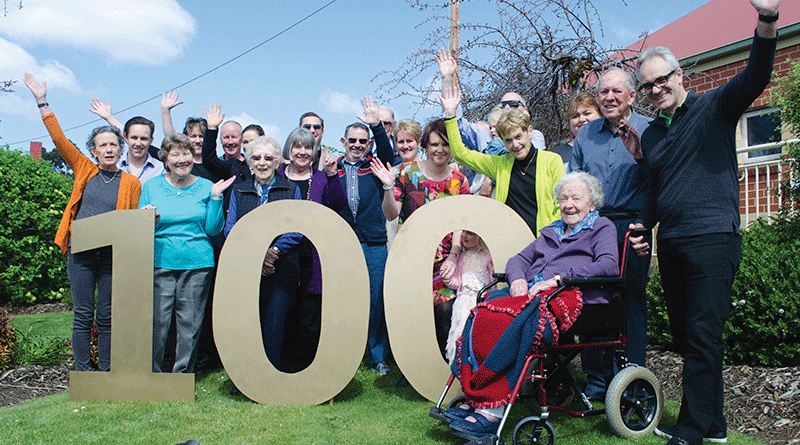 Mollie celebrates a century in style
