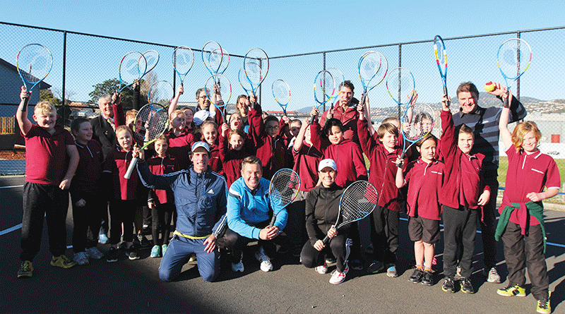 Goodwood Primary welcomes tennis champion